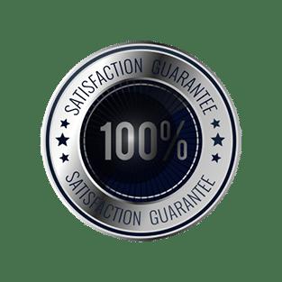 100% satisfaction banner